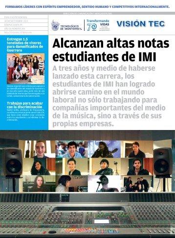 Alcanzan altas notas estudiantes de IMI - Mi Campus Santa Fe