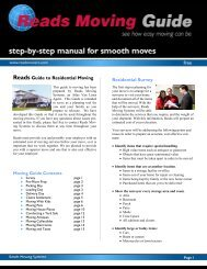Reads Guide to Residential Moving Residential Survey