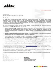 April 30, 2013 Supplier Compliance to Loblaw Data ... - GS1 Canada