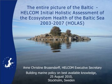 The entire picture of the Baltic - HELCOM Initial Holistic Assessment ...