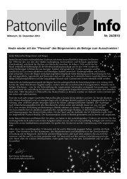 PINWAND – Aktuelles vom - Pattonville