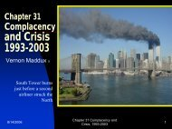 Chapter 31 Complacency and Crisis 1993-2003 - Rose State College