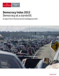 Democracy index 2012 Democracy at a standstill