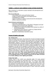 Serangoon Secondary Humanities Department 1 ... - ASKnLearn