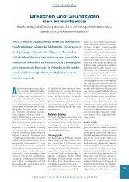 Ursachen und Grundtypen der Hirninfarkte