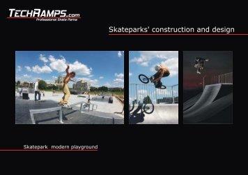 Skateparks' construction and design