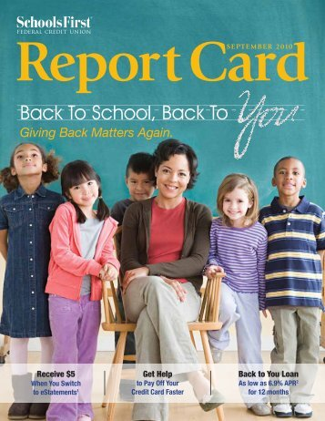 Back To School, Back To - SchoolsFirst Federal Credit Union