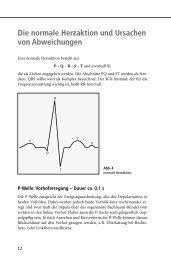 Die normale Herzaktion und Ursachen von Abweichungen