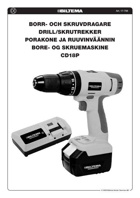 Borr- och skruvdragare drill/skrutrekker Porakone ja ... - Biltema