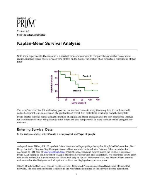 Kaplan-Meier Survival Analysis - GraphPad Software