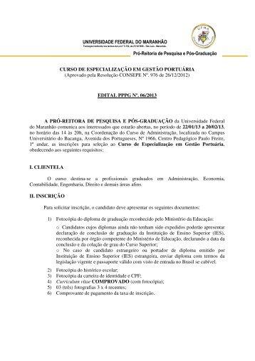 uploads/files/Edital Gestao Portuaria.pdf - Pró-Reitoria de Pesquisa ...