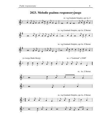 2023. Melodie psalmu responsoryjnego - Liturgical Center
