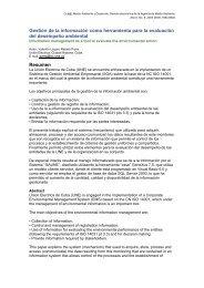 Gestión de la información como herramienta para la evaluación del ...
