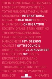 International Dialogue on Migration: 82nd Session of the Council ...
