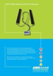 AELP Pallet Beams & AE 202 Indicator - Adam Equipment
