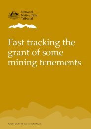 Fast-tracking the grant of some mining tenements - National Native ...