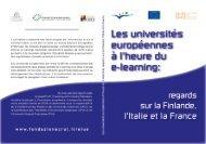 Les universités européennes à l'heure du e-learning - Service ...