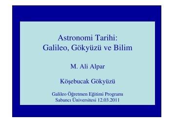 M. Ali Alpar - Astronomi Tarihi