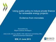 Using public policy to induce private finance for renewable energy ...