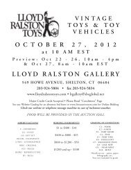 Printable Text List for October Toy Vehicle Auction - Lloyd Ralston ...