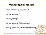 Utlandsstudier - Student LTH