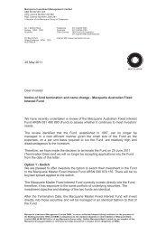 20 May 2011 Nulis Nominees Australia Ltd ATF MLC Navigator ...
