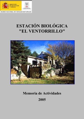 memoria 2005 - Museo Nacional de Ciencias Naturales