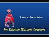 Investor Presentation - Sherwin-Williams