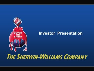 Investor Presentation - Sherwin-Williams