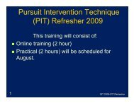 PIT Refresher Presentation - Martin County, Florida