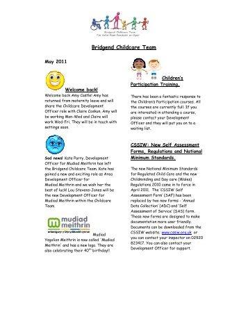 Bridgend Childcare Team - Clybiau Plant Cymru: Kid's Clubs