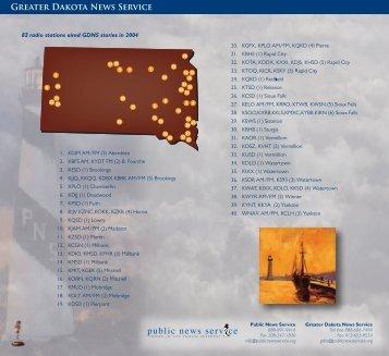 Greater Dakota News Service - Public News Service