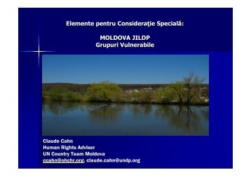 MOLDOVA JILDP Grupuri Vulnerabile - Descentralizare