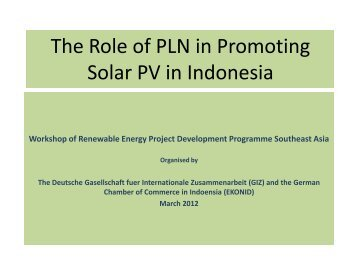 The Role of the state utility company in promoting Solar PV in ...