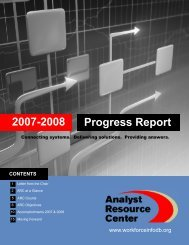 Latest Progress Report - Analyst Resource Center