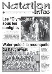 """Les """"Olympiques"""" - Fédération Française de Natation"""