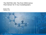 The PHOTON 100: The First CMOS Active Pixel Sensor for ... - Bruker