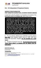 ketidakhadiran dalam peperiksaan semester 1, 2008/2009 - Jabatan ...