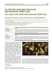 La chirurgie orale dans l'œuvre de Blas Beaumont (1690-1758)