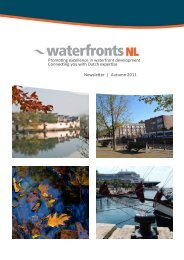 Promoting excellence in waterfront development ... - waterfronts NL