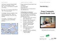 Penge Community Mental Health Team - Oxleas NHS Foundation ...