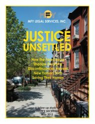 Justice Unsettled - MFY Legal Services