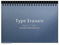 Type Erasure Pattern BoostCon
