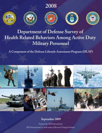 2008 DoD Survey of Health Related Behaviors Among Active Duty ...