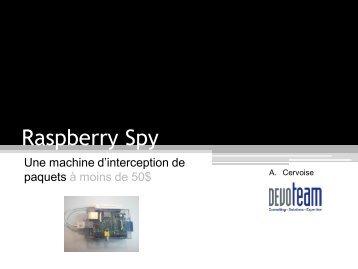 SSTIC 2013 – Raspberry Spy – Rump - Antoine Cervoise