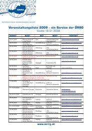 Veranstaltungsliste 2009 - Gesundheits-Cluster