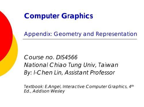 Appendix: Geometry & Representation