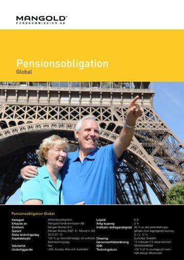 pensionsobligation global - Mangold Fondkommission
