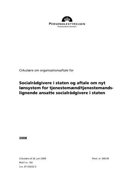 Download Organisationsaftalen - Dansk Socialrådgiverforening