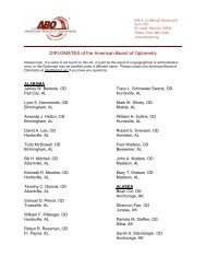 DIPLOMATES of the American Board of Optometry - CECity
